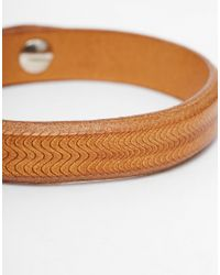 Paul Smith | Brown Textured Leather Bracelet for Men | Lyst