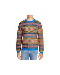 Marc By Marc Jacobs - Blue Fair Isle Sweater for Men - Lyst