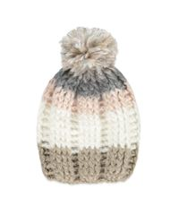 Forever 21 | Natural Striped Knit Pom Beanie | Lyst