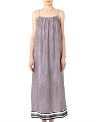 Vince - Blue Star-Print Silk Maxi Dress - Lyst