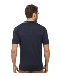 Agave | Blue Baja Malibu Short Sleeve Polo Fine Gauge for Men | Lyst