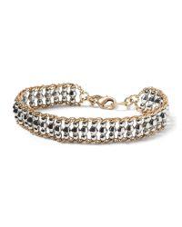 Banana Republic   Metallic Beaded Line Friendship Bracelet   Lyst