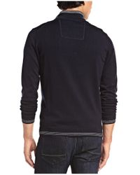 BOSS Green | Blue Sweater 'zime' In A Cotton Blend for Men | Lyst