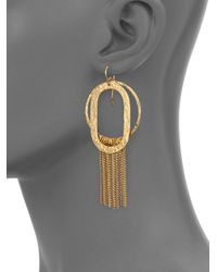 Stephanie Kantis   Metallic Paris Romance Double Loop Fringe Earrings   Lyst
