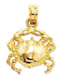Macy's | Metallic 14k Gold Charm, Crab Charm | Lyst