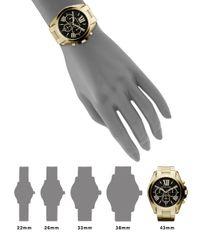 Michael Kors | Metallic Bradshaw Chronograph Goldtone Ip Stainless Steel Bracelet Watch | Lyst