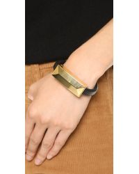 Rebecca Minkoff - Metallic Iphone Usb Lightning Cable Bracelet - Gold/black - Lyst