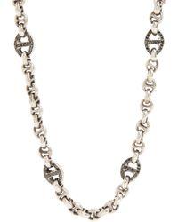Hoorsenbuhs - Pavé Black Diamond Sterling Silver Chain for Men - Lyst