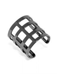 BaubleBar - Metallic Athena Grid Ring - Lyst