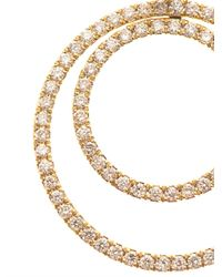 Kiki McDonough - Metallic Diamond Gold Doublehoop Earrings - Lyst