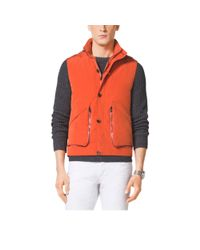 Michael Kors | Orange Poplin Vest for Men | Lyst