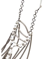 Clemmie Watson - White Leather Cape Necklace - Lyst