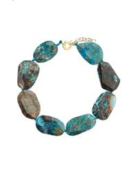 Panacea | Blue Stone Collar Necklace | Lyst