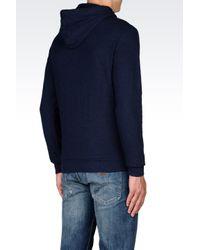 Armani Jeans | Blue Hooded Sweatshirt for Men | Lyst