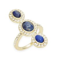 Karen Kane | Blue Three Stone Pave Ring | Lyst