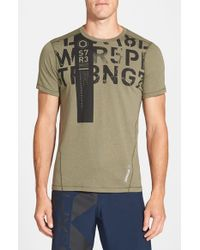 Reebok - Green 'one Series Strength' Playice Training T-shirt for Men - Lyst