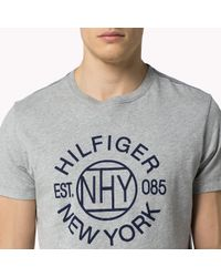 Tommy Hilfiger | Gray Cotton Regular Fit T-shirt for Men | Lyst