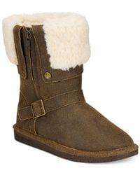 BEARPAW | Brown Madison Foldover Cold Weather Booties | Lyst