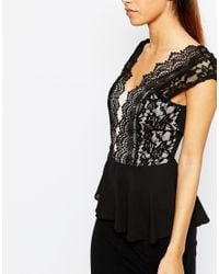 Elise Ryan - White Scallop Lace Plunge Top - Lyst