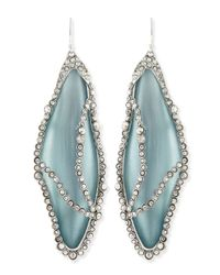 Alexis Bittar - Green Crystalcaged Lucite Dragonfly Wing Earrings Grayblue - Lyst