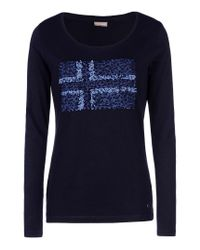 Napapijri | Blue Long Sleeve T-shirt | Lyst
