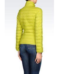 Armani Jeans   Yellow Down Coat   Lyst