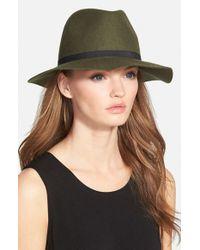Hinge - Green Wool Felt Panama Hat - Lyst