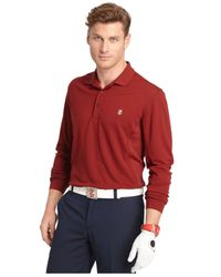 Izod | Red Men's Athletic-fit Golf Polo for Men | Lyst