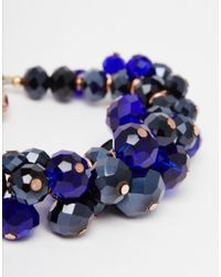 Ted Baker   Blue Bead Cluster Bracelet   Lyst
