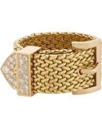 Aurelie Bidermann | Metallic Belt Ring | Lyst