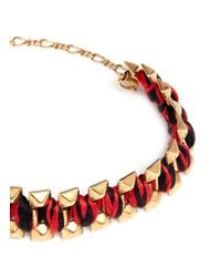 Ela Stone | Rowina Coloured Thread Stud Bracelet | Lyst