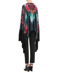 Just Cavalli - Printed Wool Cape - Multicolor - Lyst