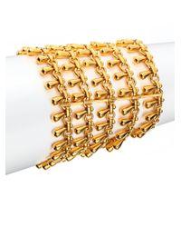 Nest | Metallic Teardrop Fringe Multi-row Chain Bracelet | Lyst