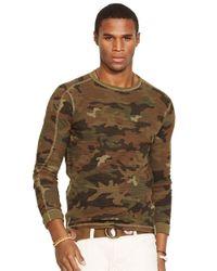 Polo Ralph Lauren - Green Waffle-Knit Camo Shirt for Men - Lyst