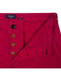 Paul Smith | Men's Garment-dye Red Stretch-cotton Twill Chinos for Men | Lyst