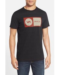 RVCA - Black 'correction' Graphic T-shirt for Men - Lyst