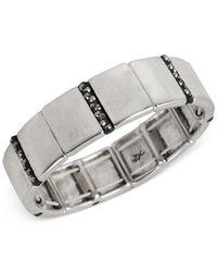 Kenneth Cole - Metallic New York Silver-tone Pave Stretch Bracelet - Lyst
