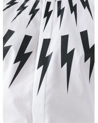 Neil Barrett | White 'lightning Bolt' Shirt for Men | Lyst