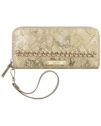 Nine West | Metallic Off The Chain Zip Around Tech Wallet | Lyst