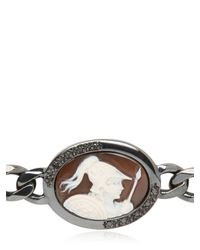 Amedeo - Metallic Sardonyx Warrior Cameo Bracelet for Men - Lyst