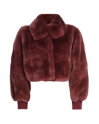 Philosophy Di Lorenzo Serafini - Rabbit Fur Jacket - Red - Lyst