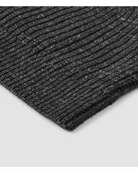 AllSaints - Black Ektarr Beanie Hat Usa Usa for Men - Lyst