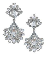Carolee | Metallic Haute Hollywood Crystal Pear Drop Earrings | Lyst