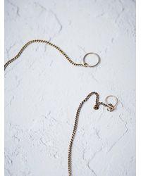 Free People - Metallic Seaworthy Womens Oleria Tie Necklace - Lyst