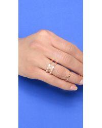 Gorjana | Pink Abbot Midi Connector Ring - Rose Gold | Lyst