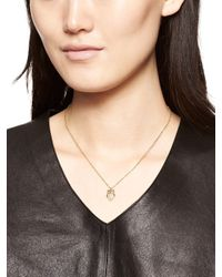 Kate Spade | Metallic Things We Love Owl Necklace | Lyst