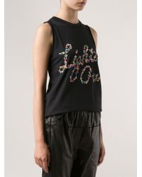 3.1 Phillip Lim - Black 'lights Out' Tank - Lyst
