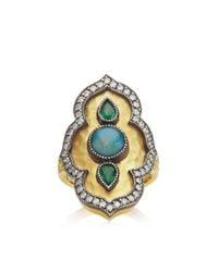 Arman Sarkisyan | Green Tsavorite and Opal Ring | Lyst