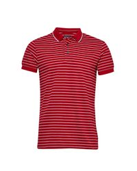 French Connection | Red Stripe Polo Shirt for Men | Lyst