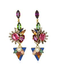 Erickson Beamon | Metallic Modern Mogul In The Mood For Love Earrings | Lyst